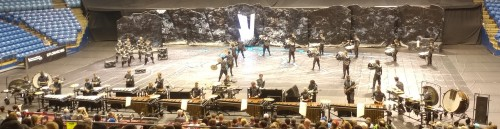 Image of the percussion ensemble in competition