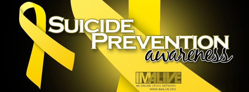 The IMALIVE suicide prevention awareness banner